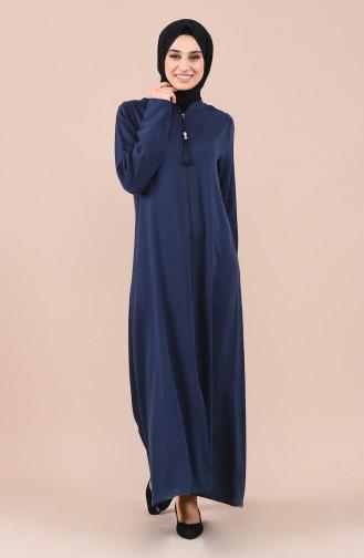Abaya a Fermeture 1018A-02 Bleu Marine 1018A-02