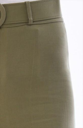 Schlaghose mit Gürtel 3121A-01 Khaki Grün 3121A-01