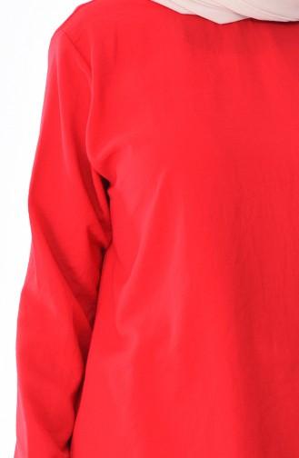 Ensemble Deux Pieces Tunique Pantalon Tissu Aerobin 4106-03 Rouge 4106-03