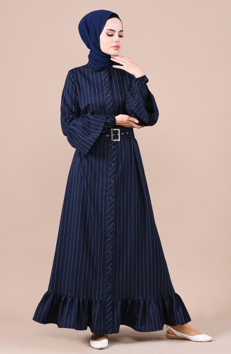 فستان أزرق كحلي 0708-05