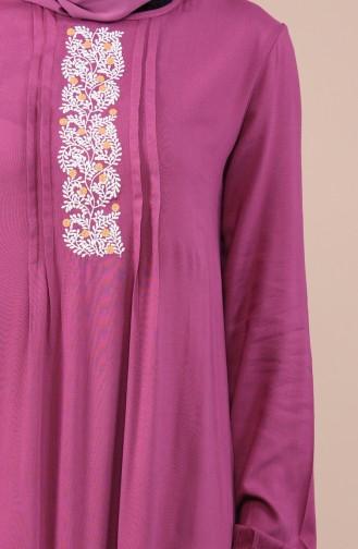 Robe Brodée Manches élastique 99201-03 Rose Pâle 99201-03