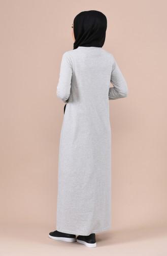 Pailletten Kleid 4066-01 Grau 4066-01