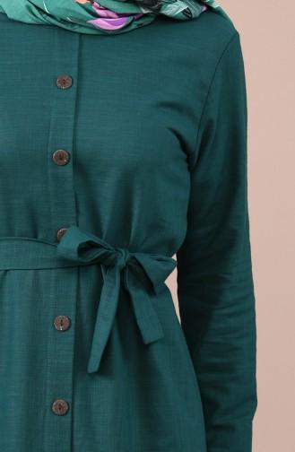 Robe Détail Boutons 6010-05 Vert emeraude 6010-05