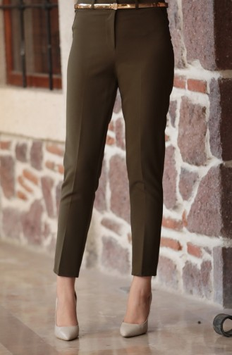 Pantalon a Ceinture 2067-04 Vert Khaki 2067-04