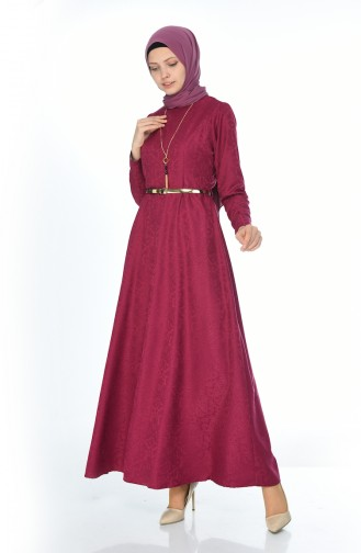 W. B Belted Dress 3951-04 Plum 3951-04