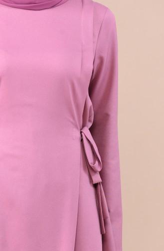Ensemble Deux Pieces Tunique Pantalon 0247-08 Rose Pâle 0247-08