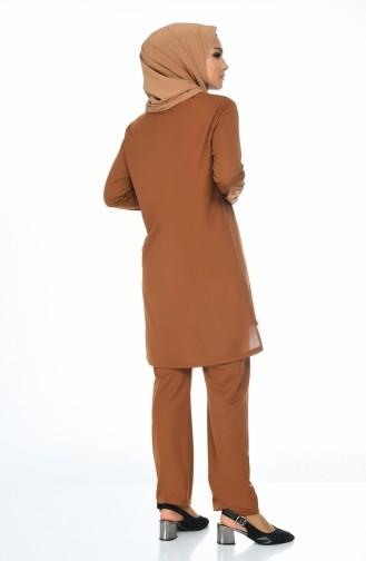 Zimtfarbig Tunikas 9001-08