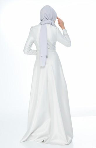 Steiniges Abendkleid 7029-03 Grau 7029-03