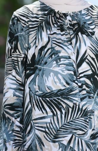 Robe Froncée a Motifs 8000-01  Vert 8000-01