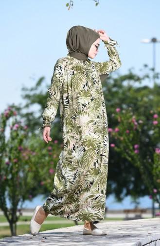 Khaki İslamitische Jurk 8000-05