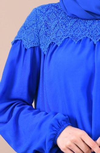 Robe a Dentelle Manches élastique 8Y3833400-01 Bleu Roi 8Y3833400-01