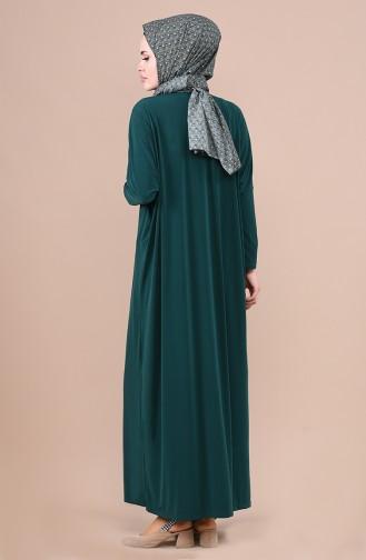 فستان أخضر زمردي 1781-07