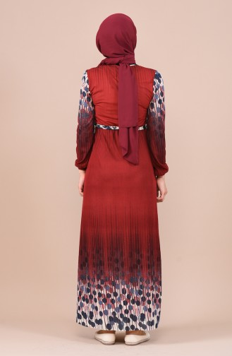 Claret red Dress 1101-01