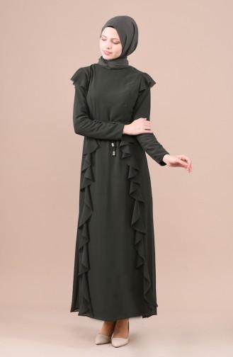 فستان كاكي 5021-02