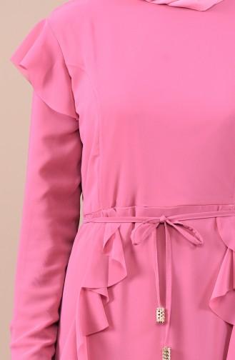 Robe Mousseline a Froufrous 5021-04 Rose Pâle 5021-04