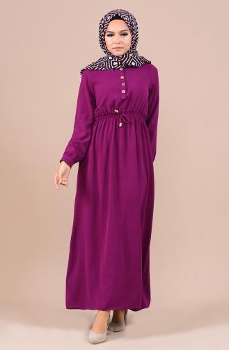 فستان ارجواني داكن 5024-05