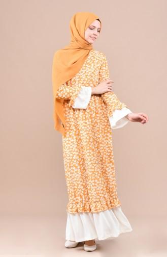 Yellow İslamitische Jurk 4243-03