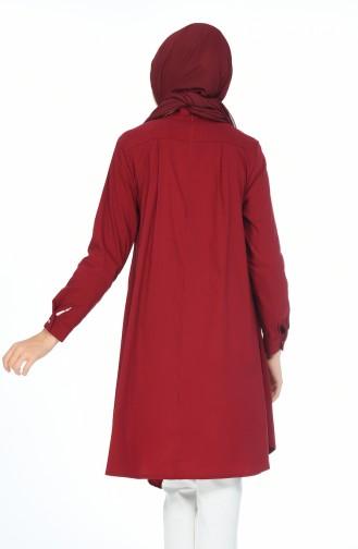 تونيك أحمر كلاريت 5016-09