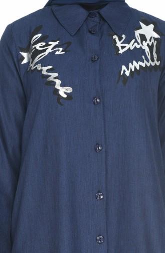 Tunique Chemise 19512-01 Bleu Marine 19512-01
