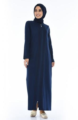 Navy Blue Abaya 42204-01