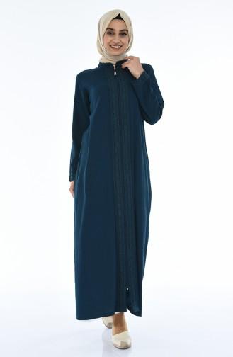 Oil Blue Abaya 42204-02
