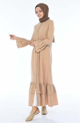 Beige Abaya 5004-02