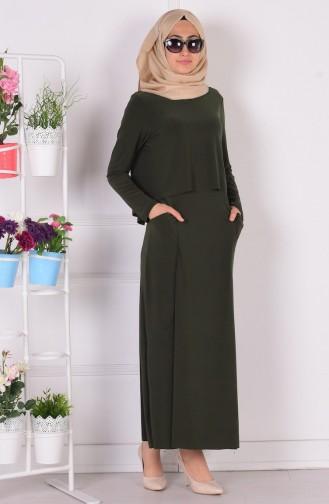 Robe Hijab Khaki 1808-03