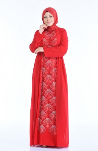 Red İslamitische Avondjurk 6265-05