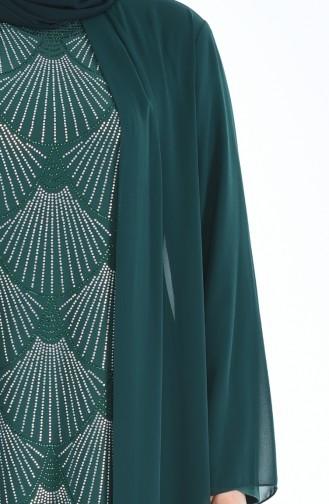 Robe de Soirée Grande Taille 6265-07 Vert emeraude 6265-07
