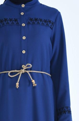 Robe Brodée 4285-03 Bleu 4285-03
