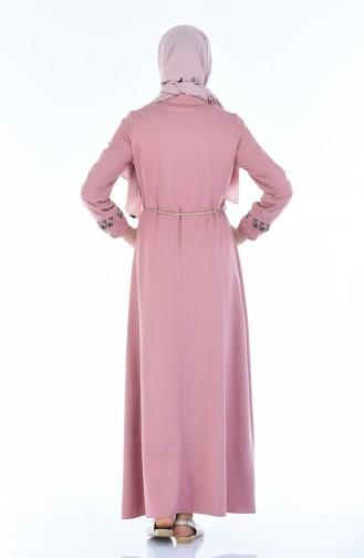 Besticktes Kleid 4285-04 Puder Rosa 4285-04