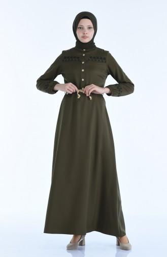 فستان اخضر نفطي 4285-05