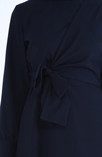 Seitlich gebundenes Kleid 2080-05 Dunkelblau 2080-05