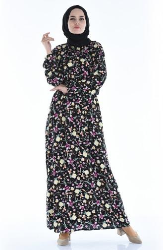 Robe Hijab Noir 1046J-03