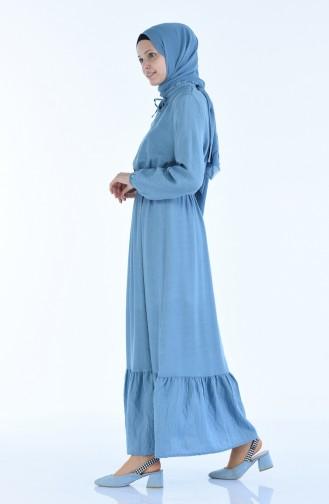 Gummi Kleid aus Aerobin Stoff 1957-06 Babyblau 1957-06