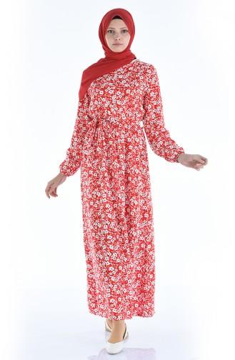 Ärmel elastisch, Kleid 4242-04 Rot 4242-04