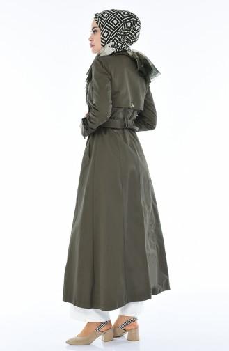 Khaki Trench Coats Models 6714-04