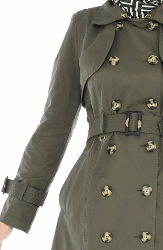 Trench Coat a Boutons 6714-04 Khaki 6714-04