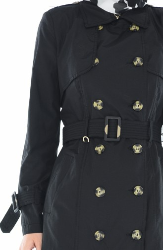 Black Trench Coats Models 6829-01