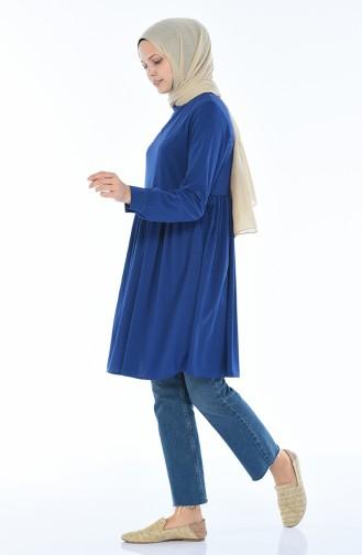 Geraffte Tunika 1262A-01 Blau 1262A-01