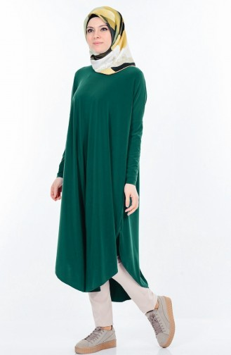 Smaragdgrün Tunikas 17351-07