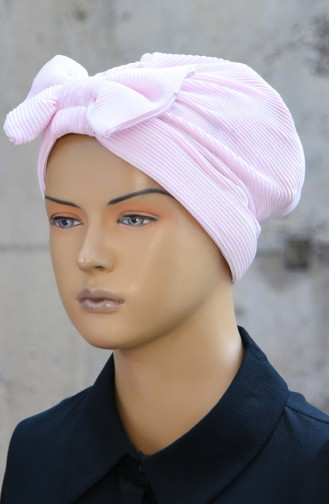 Bonnet mit Plissee 1045-03 Puder Rosa 1045-03