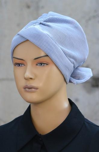 Bonnet mit Plissee 1045-07 Grau 1045-07