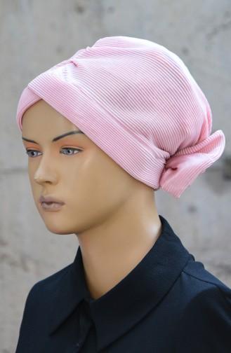 Bonnet Plissé avec Noeud 1045-11 Poudre 1045-11