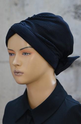 Plissee Bonnet  1045-12 Schwarz 1045-12