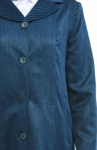 معطف فوقي أزرق زيتي 5130-03