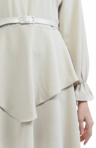 Ensemble Deux Pieces Tunique Pantalon Tissu Aerobin 6359-06 Beige 6359-06