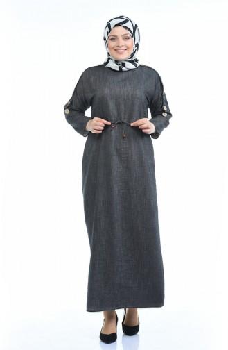 Gerafftes Kleid 0315-05 Rauchgrau 0315-05