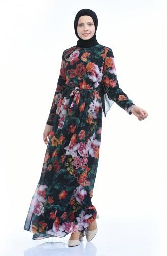 فستان أخضر حشيشي 60036-01