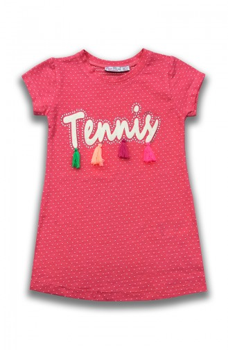Tochter Detailliertes Kleid  E0029A Pink 0029A